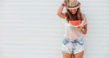 Refreshment with a watermelon